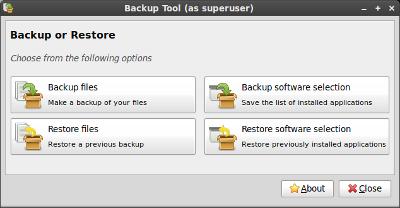 Linux Mint 9 Backup
